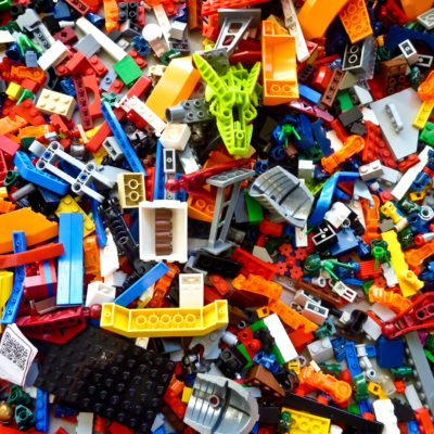 legos in a pile