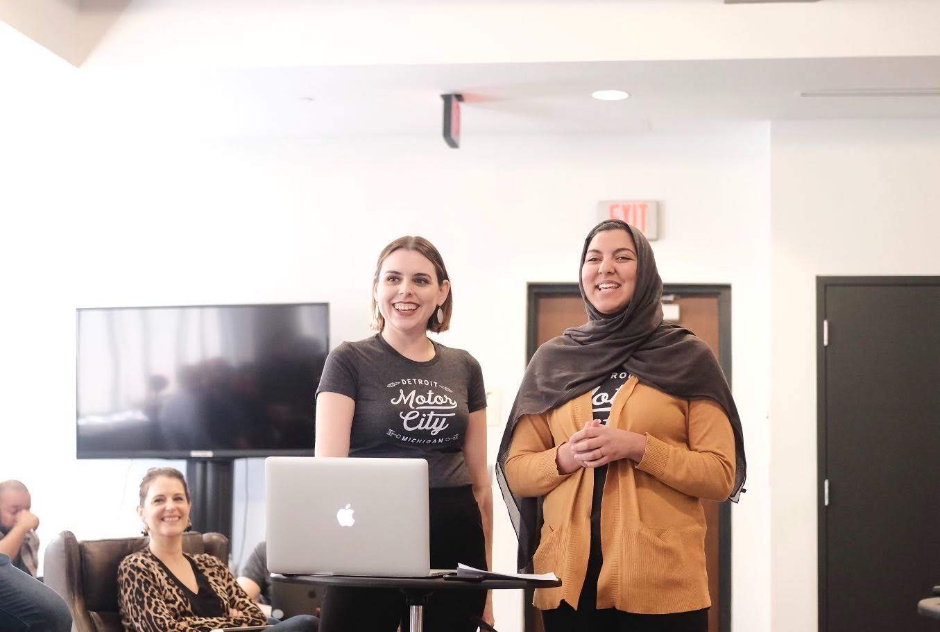 Detroit Labs Apprentices Nada Mahmoud and Christie Desnoyer