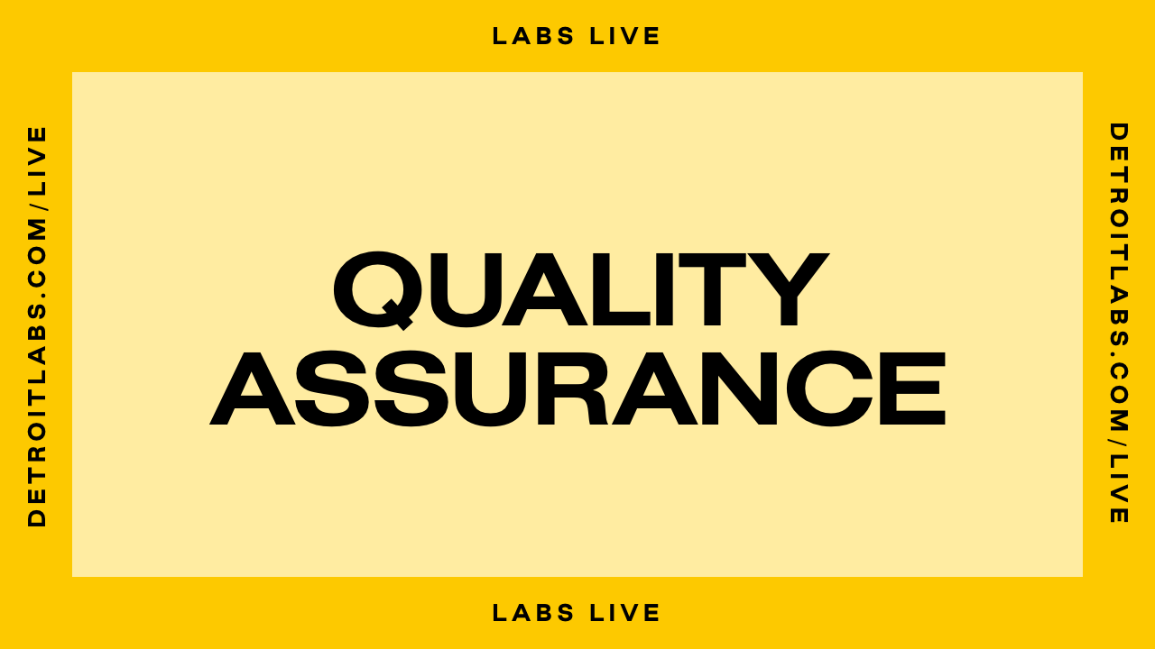 Labs Live Quality Assurance Episode Promo Image