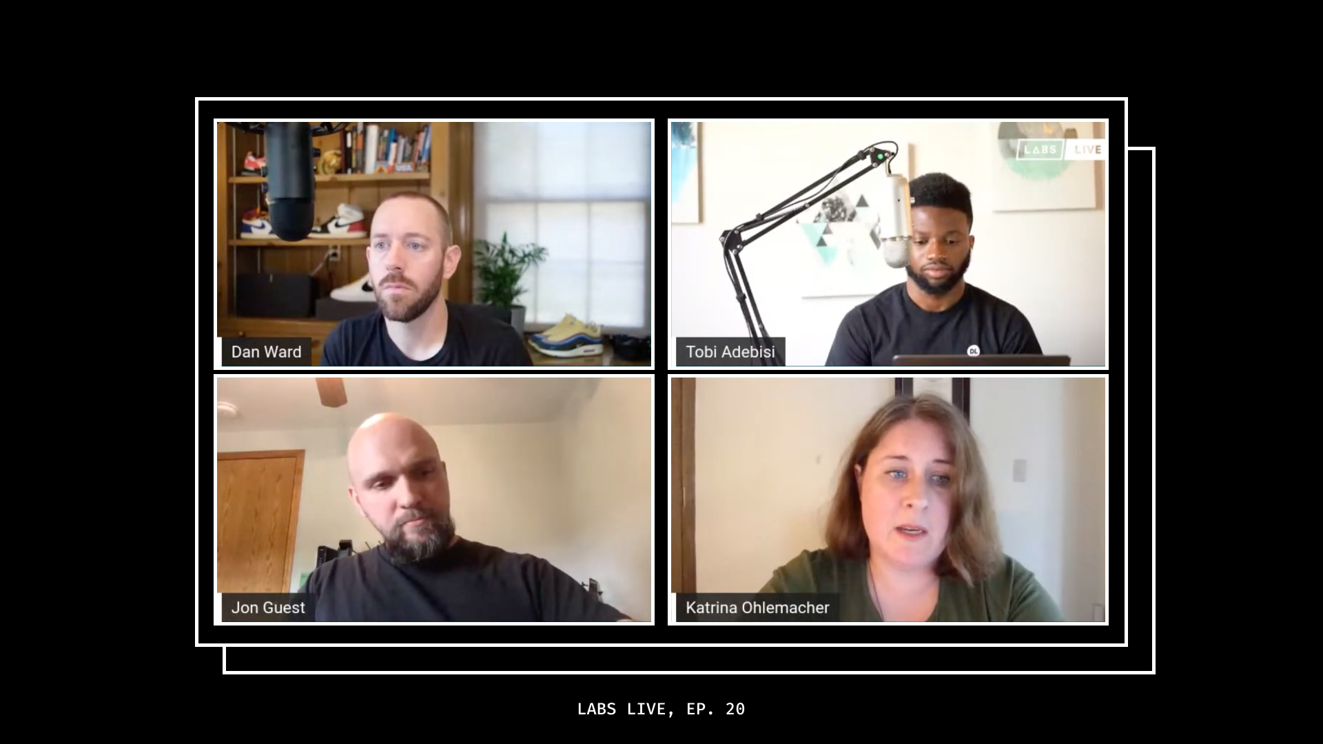 Screenshot of Labs Live Episode 21 featured Quality Assurance Engineers Katrina and Jon